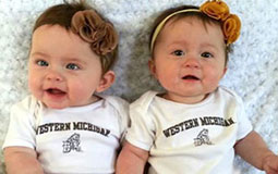 Babies in Bronco gear