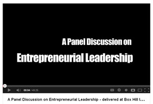 link to YouTube video on Entrepreneurial Leadership
