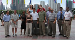 Photo of group in China