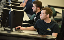 Photo of students in computing lab