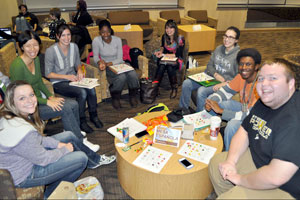 Photo of students in cafe