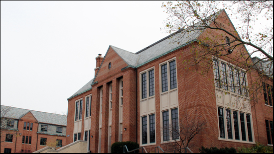 A photo of the exterior of Walwood Hall where the Graduate College is currently located.