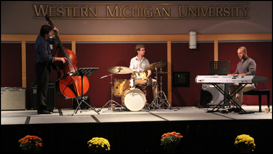 a photo of the Dan Willenberg Trio performing at the Fall 2013 Welcome