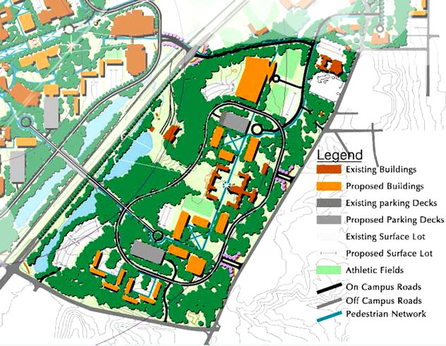 University Michigan Campus Map.Oakland Drive Campus Facilities Management Western Michigan