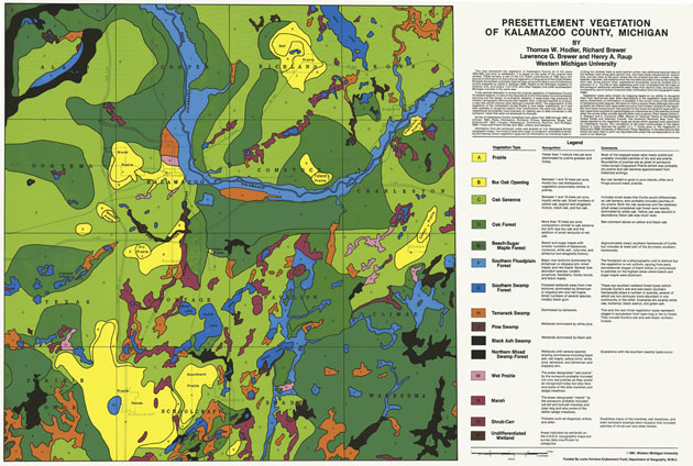 18251830 Kalamazoo County Vegetation Map Facilities Management