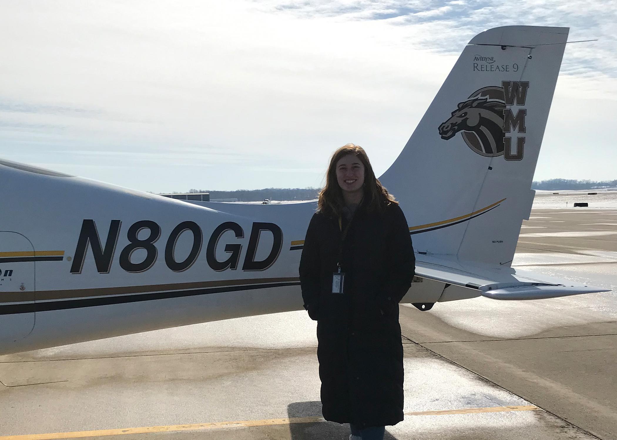 WMU Aviation Flight Science Student Emma Anderson