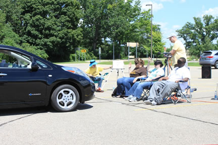 Subjects listening for hybrid electric cars