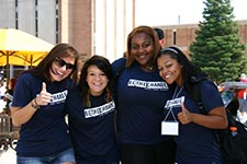 Students posing at Fall Welcome.
