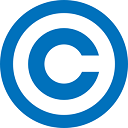 Graphic of a copyright symbol with the letter C inside a circle.