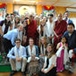 Photo of WMU students with the Dalai Lama