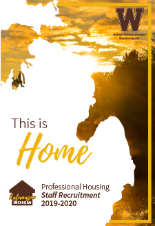 Cover of the 2019-20 Professional Housing Staff Recruitment Brochure