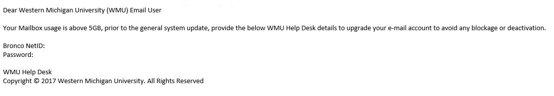 Subject Wmu Mailbox Is Almost Full Date 10 24 2017