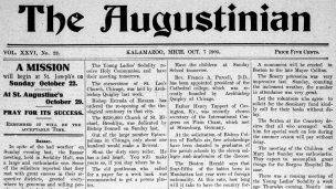 Front page of The Augustinian newspaper from October 7, 1905.