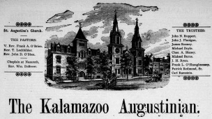 Front page of The Kalamazoo Augustinian newspaper from March 25, 1899.