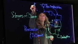 Instructor writing on the Learning Glass lightboard in the studio at Waldo Library.