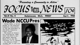 Front page of Focus News in April 1968.