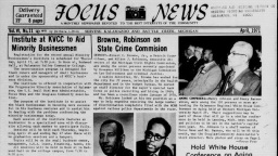 Front page of Focus News newspaper from April 1971.