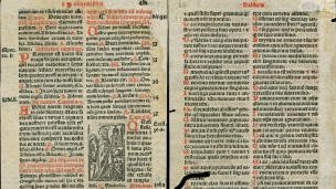 Pages from a 16th century breviary.