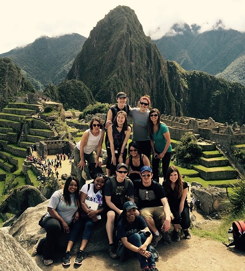 Group of WMU students sightseeing abroad.