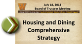 Housing and dining strategy presentation