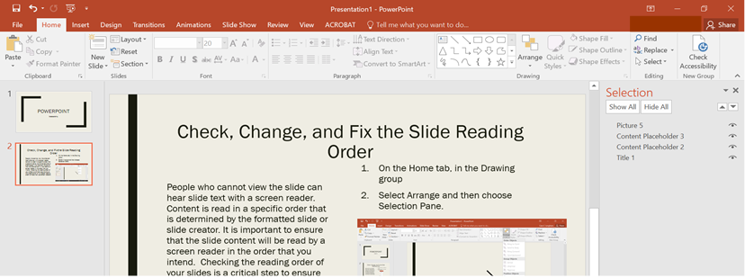 create accessible microsoft powerpoint presentations elearning