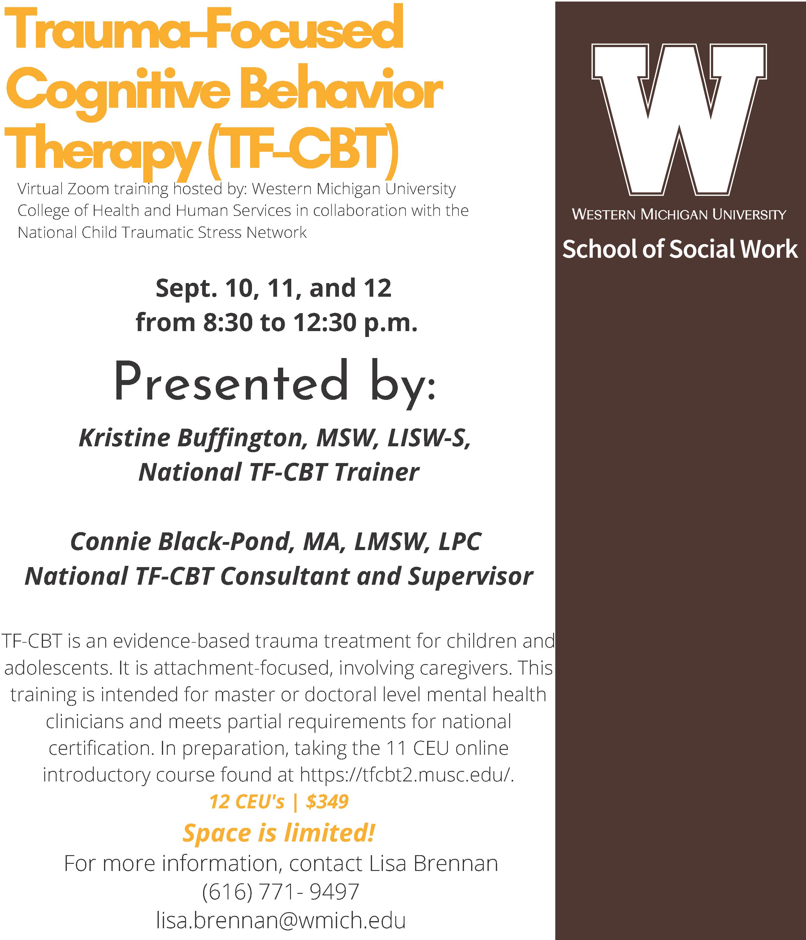 cbt trauma tf focused cognitive therapy edu tfcbt behavior continuing sw education