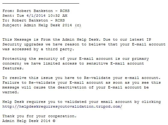 Phishing Example April 1