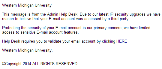 Phishing example 5/30/2014