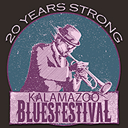 Logo for 2013 Kalamazoo Blues Festival.