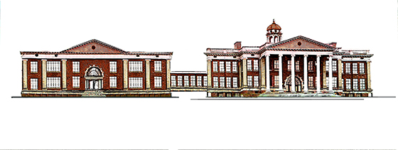 Artist's rendering of a renovated East Hall.
