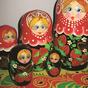 Photo of Russian nesting dolls.