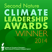 Second Nature Climate Leadership Awards logo.