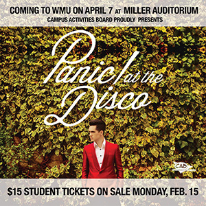 Panic! At the Disco flier.
