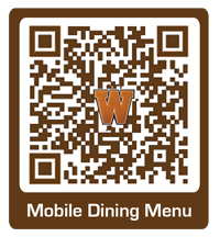 QR code for mobile dining menu.