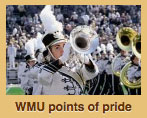 Image of trumpet player used with points of pride spotlight.