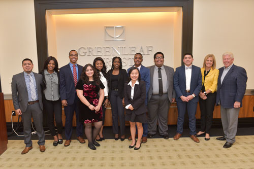 Group photo of Greenleaf Scholarship recipients