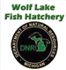 Photo of Wolf Lake Fish Hatchery logo.