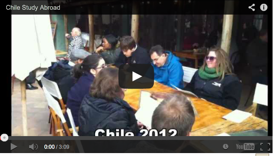 Video clip from WMU study abroad program in Chile.
