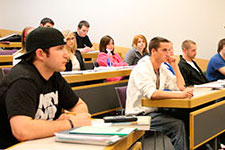 Photo of students in class.