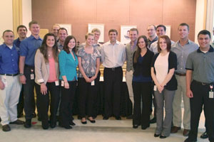 Photo of WMU interns with Kellogg CEO Bryant