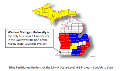 Map showing Michigan's higher learning institutions.