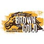 Bleed brown and gold homecoming logo.