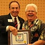 Photo of Fred Sammons receiving his award.