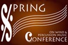 Spring Conference on Wind and Percussion Music logo.