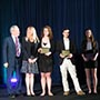 Photo of students accepting award.