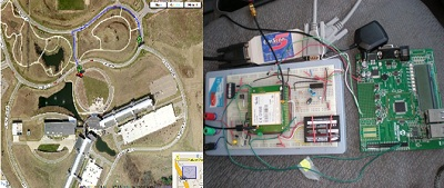 Vehicle infrastructure integration arial view and circuit photo
