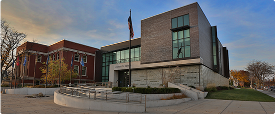 exterior photo of the Lansing campus