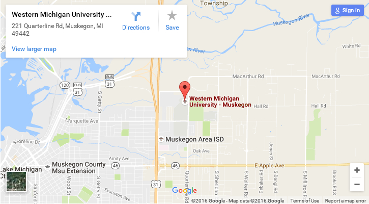 map of WMU-Muskegon