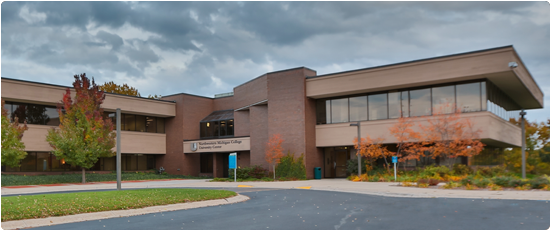 exterior view of the Traverse City branch campus building