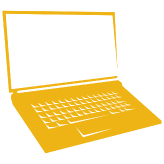 silhouette of laptop